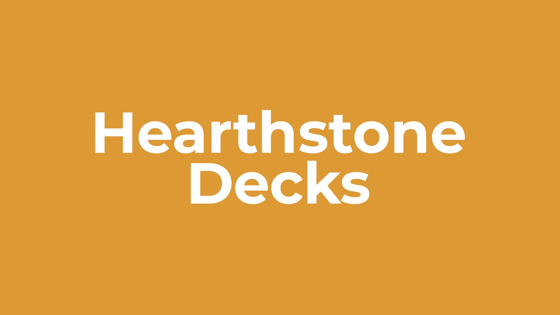 Hearthstone-Decks